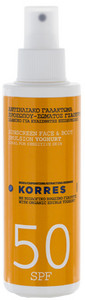 Korres Sunscreen Face & Body Emulsion Yogurt SPF50 emulze na opalování s jogurtem SPF50