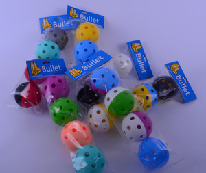 Set of floorball balls Bullet 4 pieces