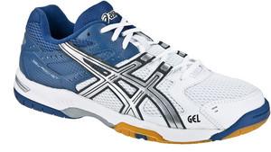Asics Gel-Rocket 6 bílá / modrá / stříbrná UK 9,5 | US 10,5 | EU 44,5 | 28,25 cm