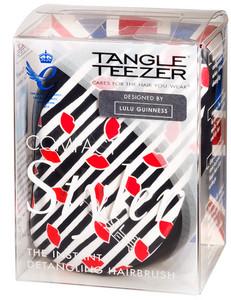 Kompaktní kartáč TANGLE TEEZER COMPACT STYLER Instant Detangling Hairbrush - Lulu Guinness Černo-bílá