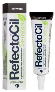 Barva na řasy a obočí REFECTOCIL Sensitive Eyelash & Eyebrow Tint 15ml Černá