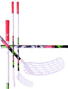 Florbalová hokejka LEXX Swiss NoVibrations C4 2.9 `15 černá / stříbrná / červená Levá ruka níže 96cm (=106cm)