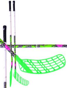 Florbalová hokejka Lexx XCurve C4 2,9 Black/Silver `15 černá / zelená / bílá, Levá ruka níže, 96cm (=106cm)