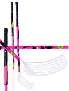 Florbalová hokejka Lexx XCurve C4 3,2 Pink/Black `15 růžová / černá Pravá (pravá ruka níže) 87cm (=97cm)