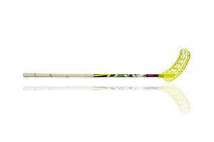 Florbalová hokejka Lexx Black Wolf V1 3,2 Rainbow Green/Yellow `15 zelená / žlutá Levá ruka níže 75cm (=85cm)