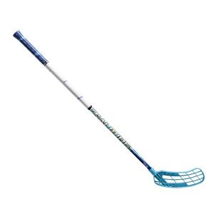 Florbalová hokejka SALMING Quest1 OvalFusion 27 `16 modrá / bílá Pravá (pravá ruka níže) 96cm (=106cm)