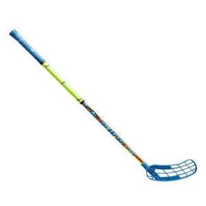 Florbalová hokejka SALMING Quest1 X-shaft KZN TC 3° JR `16 modrá / oranžová / žlutá Pravá (pravá ruka níže) 87cm (=97cm)
