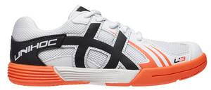 Unihoc U3 Junior white/orange bílá / oranžová Dítě US 1 / UK 13 JR / EU 32 / 21,2 cm