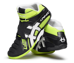 Unihoc U3 Goalie neon yellow/black Goalie shoes