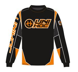 Unihoc OPTIMA black/neon orange 160 cm černá / neonově oranžová