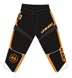 Unihoc OPTIMA black/neon orange Brankárske nohavice