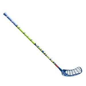 Florbalová hokejka Salming Quest2 KickZone TipCurve 5° `16 modrá / limetková Levá ruka níže 100cm (=110cm)