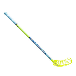 Florbalová hokejka Salming Quest2 Carbon Comp 32 JR `16 žlutá / modrá Levá ruka níže 87cm (=97cm)