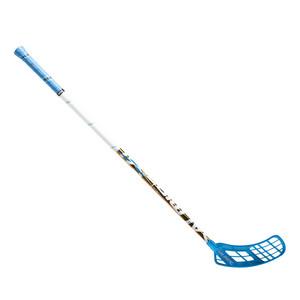 Florbalová hokejka Salming Quest3 X-shaft KZ TC 3° JR `16 modrá / bílá Pravá (pravá ruka níže) 87cm (=97cm)
