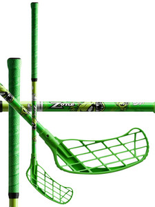 Zone floorball PIRAYA San Slime green Softflex Florbalová hokejka