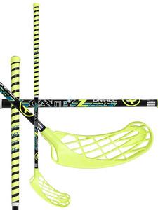Florbalová hokejka Unihoc CAVITY Z 29 black `16 neonově žlutá / černá Levá ruka níže 96cm (=106cm)