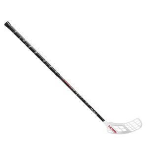 Florbalová hokejka Salming Quest3 X-shaft KickZone `16 bílá / černá Pravá ruka níže 100cm (=110cm)