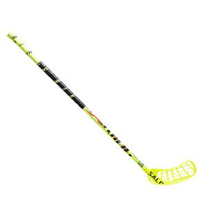 Florbalová hokejka Salming Quest2 X-shaft KickZone `16 žlutá / černá Levá (levá ruka níže) 100cm (=110cm)