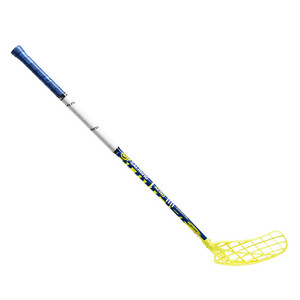 Florbalová hokejka Salming Aero Mid KickZone TipCurve 5° YOUTH 35 `16 žlutá / modrá / bílá Levá ruka níže 87cm (=97cm)