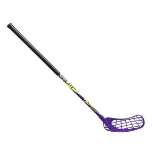 Florbalová hokejka Salming Quest2 Mid 35 `16 fialová / žlutá / černá Pravá (pravá ruka níže) 77cm (=87cm)