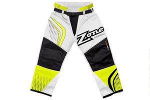 Zone floorball ICON MEGA white/neon yellow/black Goalie pants
