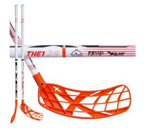 Florbalová hokejka Exel THE1 ORANGE 2.9 ROUND SB `16 oranžová / bílá Levá (levá ruka níže) 92cm (=102cm)