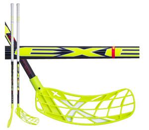Florbalová hokejka Exel X-PLAY NANO BLACK 2.9 ROUND MB `16 žlutá / černá Levá ruka níže 92cm (=102cm)