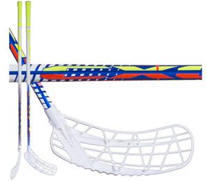 Florbalová hokejka Exel Rifle Light Blue 2.9 Round SB `16 modrá / bílá Levá (levá ruka níže) 98cm (=108cm)