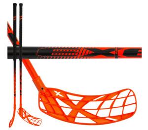 Florbalová hokejka Exel X-PLAY NANO PC 2.9 ROUND SB `16 černá / oranžová Pravá (pravá ruka níže) 92cm (=102cm)