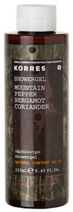 Korres Mountain Pepper/ Bergamot/ Coriander Showergel sprchový gel