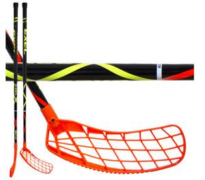 Florbalová hokejka Exel HELIX BLACK 2.6 101 ROUND SB `16 oranžová / černá Pravá ruka níže 101cm (=111cm)