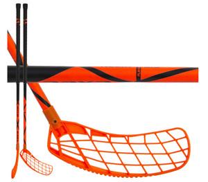 Florbalová hokejka Exel HELIX PC 2.6 101 ROUND SB `16 neonově oranžová / černá Pravá ruka níže 101cm (=111cm)