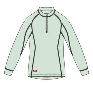 Mid-shirt Mizuno Thermo Half Zip L / S W - Sale