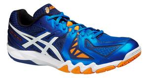 Asics GEL-BLADE 5 modrá / bílá / oranžová UK 6 | US 7 | EU 40 | 25 cm