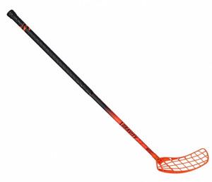 Florbalová hokejka Exel Gravity PC 2.9 Round MB `16 neonově oranžová / černá Air Pravá ruka níže 98cm (=108cm)
