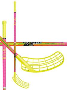 Florbalová hokejka Zone SUPREME Curve 3.0° 29 Crazy neon `16 neonově žlutá / neonově růžová Pravá ruka níže 100cm (=110cm)