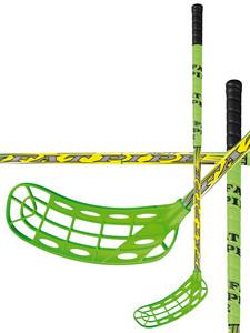 Florbalová hokejka FatPipe BOW 27 `16 zelená / žlutá Levá (levá ruka níže) 101cm (=111cm)