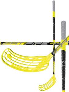 Florbalová hokejka Fatpipe G-BOW 27 WIZ `16 žlutá / černá Pravá (pravá ruka níže) 101cm (=111cm)