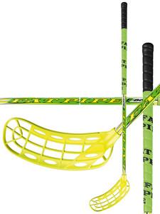 Florbalová hokejka FatPipe S-BOW 27 `16 žlutá / zelená Levá (levá ruka níže) 96cm (=106cm)