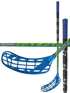Florbalová hokejka FatPipe BOOM 31 `16 modrá / zelená / černá Levá (levá ruka níže) 87cm (=97cm)