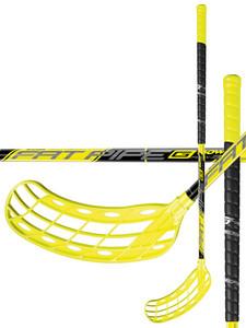 Florbalová hokejka FatPipe G-BOW 31 ORC `16 žlutá / černá Levá (levá ruka níže) 87cm (=97cm)