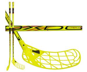 Florbalová hokejka Oxdog Viper Superlight 29 `16 žlutá / černá Pravá ruka níže 101cm (=111cm)