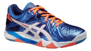 Sálová obuv Asics Gel-Sensei 6 W `16 modrá / oranžová / bílá UK 9 | US 11 | EU 43,5 | 27,5 cm