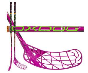 Florbalová hokejka Oxdog Curve 30 pink round NB `16 růžová / černá Pravá ruka níže 87cm (=97cm)