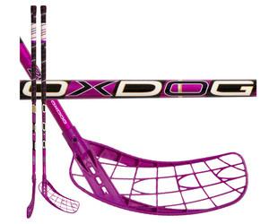 Florbalová hokejka Oxdog Fusion 29 pink 98 round NB `16 růžová / černá Pravá ruka níže 98cm (=108cm)