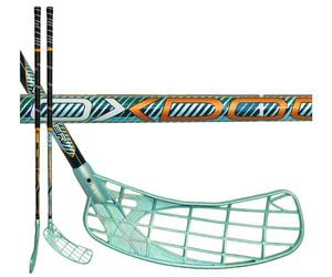 Florbalová hokejka Oxdog Venger 27 101 round NB `15 zelená / černá Levá ruka níže 101cm (=111cm)