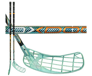 Florbalová hokejka Oxdog Venger 27 101 oval NB `15 zelená / černá Levá ruka níže 101cm (=111cm)
