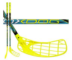 Florbalová hokejka Oxdog Venger 32 round NB `15 modrá / žlutá / černá Pravá ruka níže 87cm (=97cm)