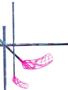 Florbalová hokejka Exel Gravity X 2.6 mint / pink round `16 černá / růžová Pravá ruka níže 103cm (=113cm)