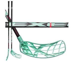 Florbalová hokejka Exel X-play Nano 2.6 black/mint 103 round `16 černá / zelená Pravá ruka níže 103cm (=113cm)